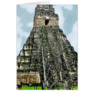 Carte : Temple maya chez Tikal, Guatemala