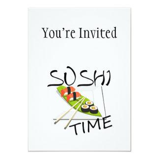 Carte Temps de sushi