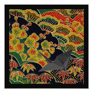 Carte textile japonais de kimono de motif de fleur de