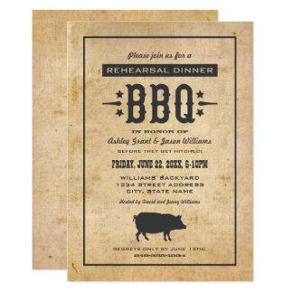 Carte Thème de BBQ de jardin du dîner | de répétition de