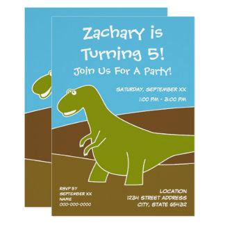 Carte Thème de fête d'anniversaire de dinosaure