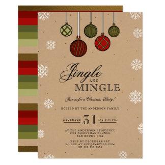 Carte Tintez et mélangez la fête de Noël moderne de