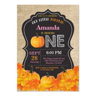 Carte Toile de jute de rose d'invitation d'anniversaire