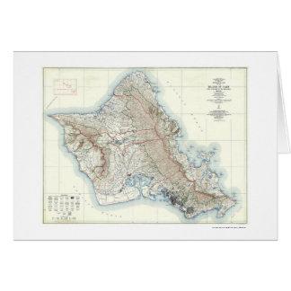 Carte topographique 1938 d'Oahu Hawaï