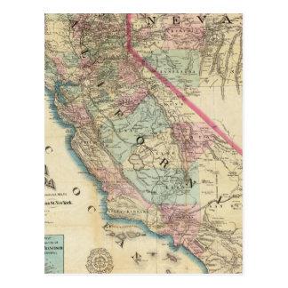 Carte topographique de chemin de fer et de comté,