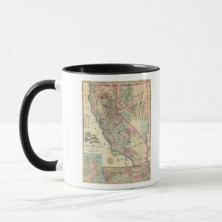 Carte topographique de chemin de fer et de comté, mug