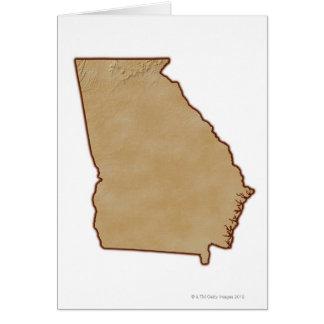 Carte topographique de la Géorgie