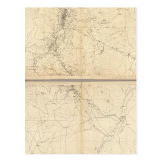 Carte topographique de région d'exploitation de