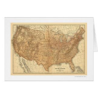 Carte topographique des Etats-Unis - 1883