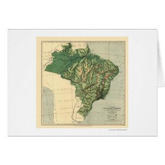 Carte topographique du Brésil par les puits 1886