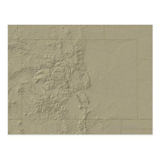 Carte topographique du Colorado