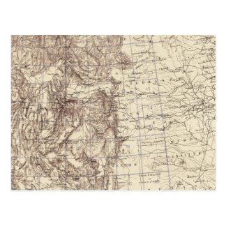 Carte topographique du fleuve Mississippi