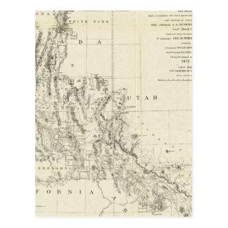 Carte topographique du Nevada et de l'Arizona