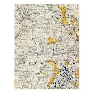 Carte topographique et glaciaire du New Hampshire