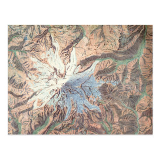 Carte topographique vintage Washington du mont