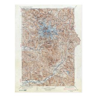 Carte topographique vintage Washington du mont
