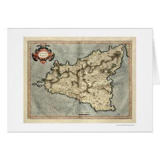 Carte tôt 1595 de Mercator Sicile