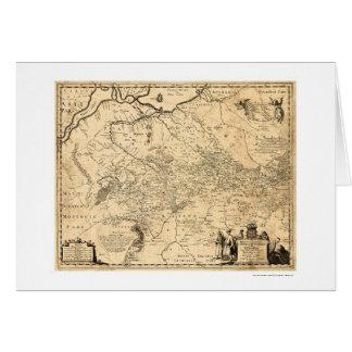 Carte tôt 1648 de l'Ukraine