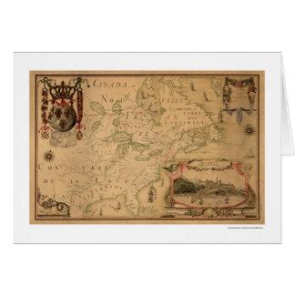 Carte tôt 1688 du Québec Canada