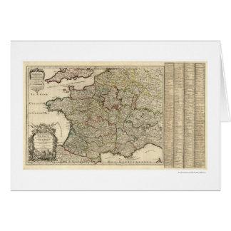 Carte tôt de la France 1700