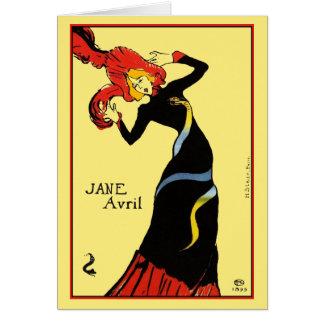 Carte : Toulouse Lautrec - Jane Avril