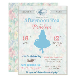 Carte TOUT ÉVÉNEMENT - Alice au thé du pays des
