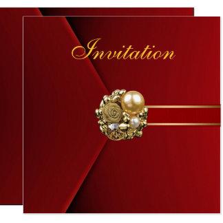 Carte Tout occasionne l'image d'or de velours de rouge