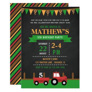 Carte Tracteur de tableau/fête d'anniversaire de ferme