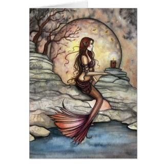 Carte tranquille d'art de sirène de lagune