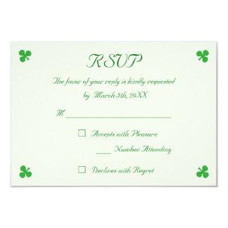 Carte Trèfle vert irlandais fait sur commande de