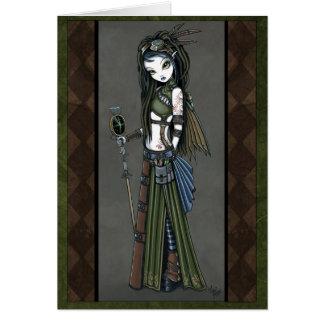 Carte tribale de fée d'Aviatrix de Steampunk