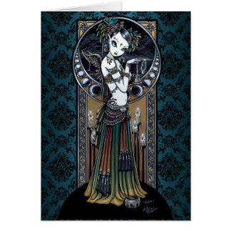 Carte tribale gothique d'art de danseur de fusion