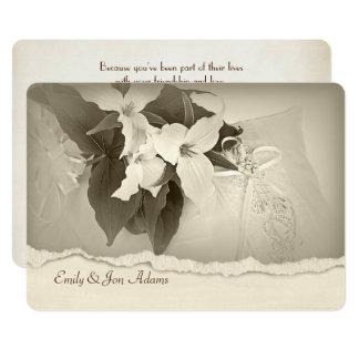 Carte Trillium dans le renouvellement de voeu de mariage