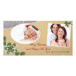 Carte tropicale de famille de Multi-Photo de Noël Photocartes Personnalisées