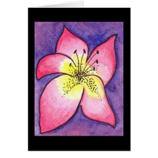 Carte tropicale de fleur