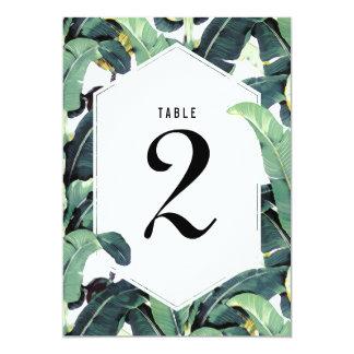 Carte tropicale de nombre de Tableau de mariage de Carton D'invitation 12,7 Cm X 17,78 Cm