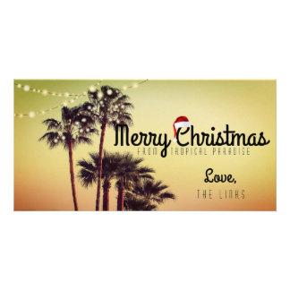 Carte tropicale de vacances de Noël