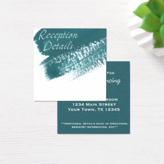 Carte turquoise moderne de réception de brosse