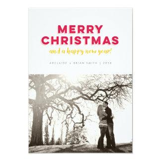 Carte Type texturisé Joyeux Noël minimaliste Photocard