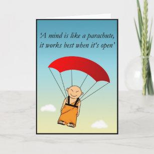 Carte Anniversaire Saut En Parachute.Carte Un Esprit Est Comme Un Parachute