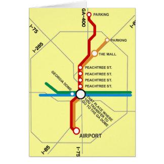 Carte utile de souterrain d'Atlanta