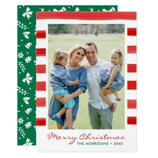 Carte Vacances modernes de photo de famille de Joyeux