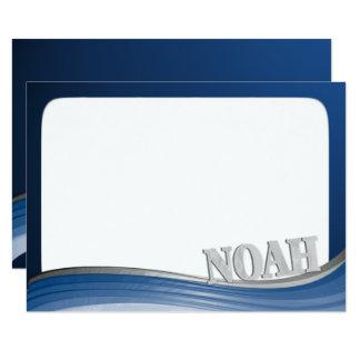 Carte Vague en acier avec la note plate nommée de Noé