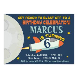Carte Vaisseau spatial d'invitations d'anniversaire de