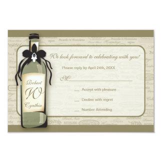 Carte variétale et lunatique de vin de la carton d'invitation 8,89 cm x 12,70 cm
