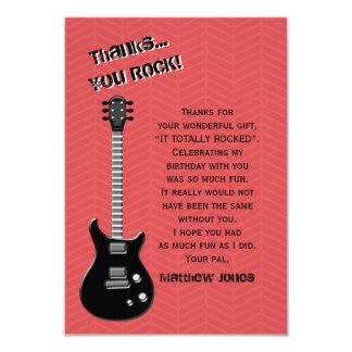 Carte Vedette du rock de guitare