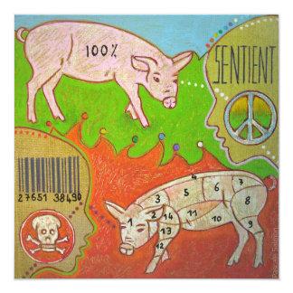 Carte Vegan peace