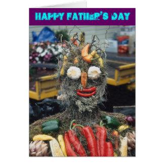 Carte végétale de fête des pères d'homme