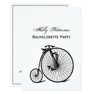 Carte Vélo vintage de bicyclette de vélo sur rail