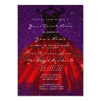 Carte Velours nuptiale gothique Blac rouge violet de